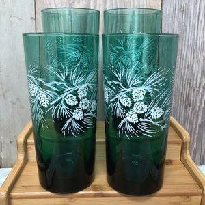 Pine Cone Design Drink Glasses